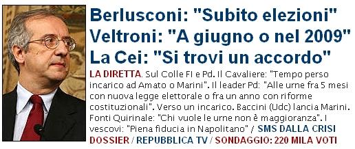 Accordo Berlusconi Veltroni