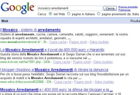 google mosaico arredamenti