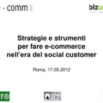Strategia e strumenti per fare e-commerce nell'era del social customer