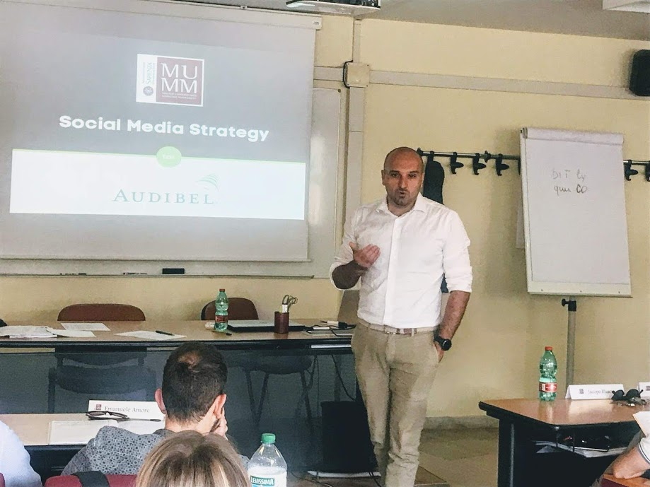 Social Media Strategy al Master MUMM con Audibel